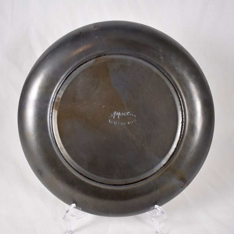 20th Century A. Martin Vallauris French Provençal Palissy Trompe L'oeil Vegetable Wall Plate For Sale