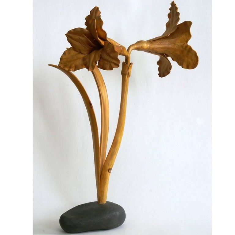 Italian Amaryllis Sculpture For Sale