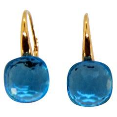 Amathyst 18 Karat Rose Gold Dangle Earrings