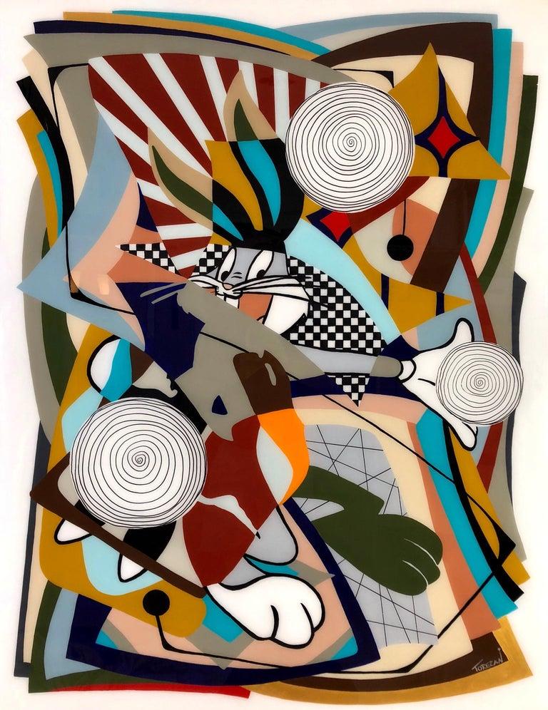 Amauri Torezan, Fun in Utopia - Painting by Amauri Torezan