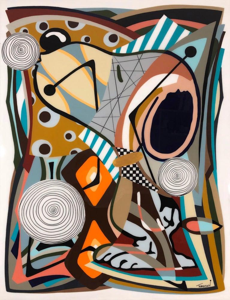 Amauri Torezan, Kissing in Utopia - Painting by Amauri Torezan