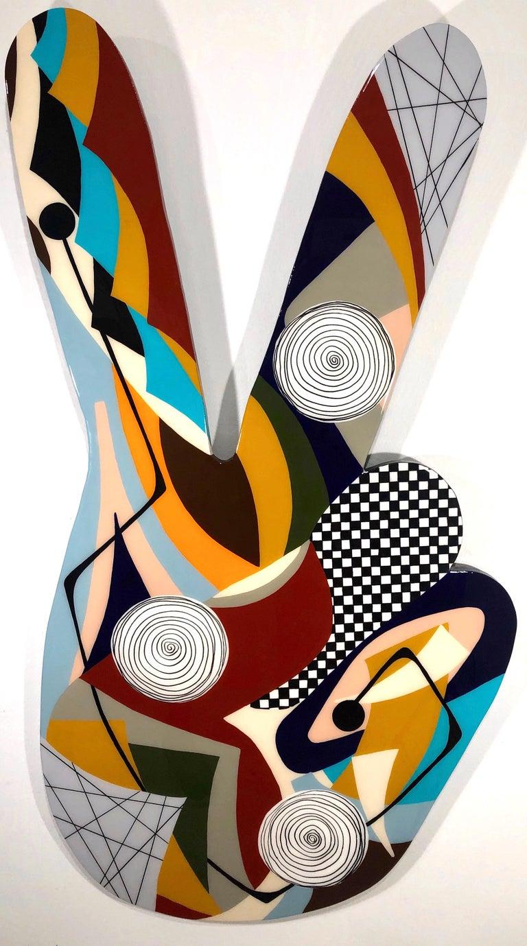 Amauri Torezan, Peace and Love - Painting by Amauri Torezan