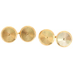Amazing 14 Karat Yellow Gold Cufflinks