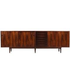 Wundervolles 1960er Arne Vodder Rosenholz Sideboard Modell 29a für Sibast Dänisch Modern