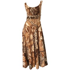 Amazing 1970s Futura Couture Leopard Print Joe Exotic Vintage 70s Maxi Dress