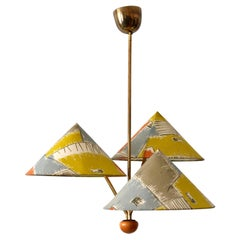 Amazing 3-Armed Chandelier or Pendant Lamp Chinese Hut y Rupert Nikoll Austria