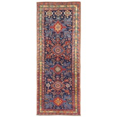 Amazing Antique Caucasian Seychour Rug with Diamond Medallions in Rich Colors
