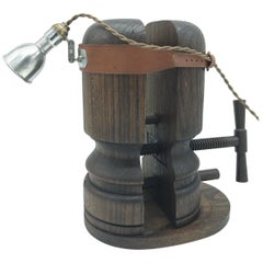 Amazing Antique Hat Stretcher Medical Head Lamp Stand