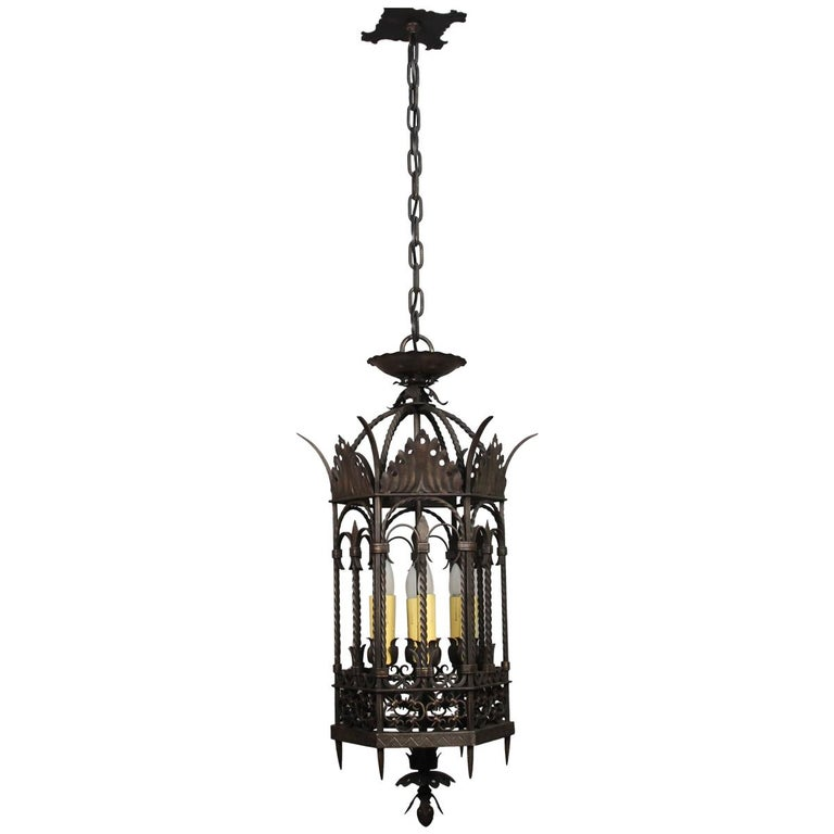 Amazing Antique Large-Scale Entry 1920s Wrought Iron and