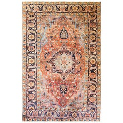 Amazing Antique Persian Heriz Carpet