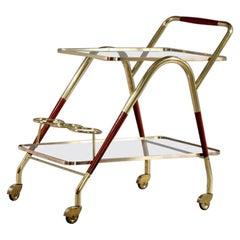 Amazing Bar Cart Designed Cesare Lacca, Italy, 1950