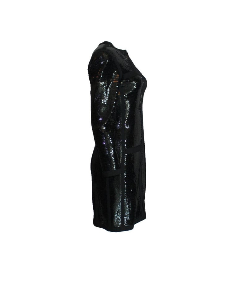 Amazing Black Chanel Sequin Silk Evening Dress Coat Jacket For Sale 1