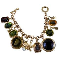 Amazing Bronze Italian Charm Bracelet by Patrizia Daliana