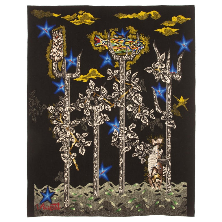 """Amazing by Tapestry by Jean Lurçat """"Little Neptune"""" For Sale"""