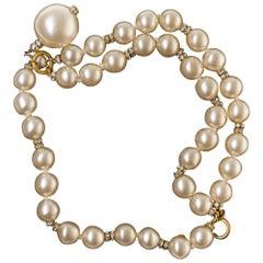 Amazing Chanel Bracelet in simili pearls and rhinestones