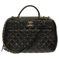 Amazing Chanel CC Vanity Case Bag with gold hardware
