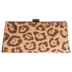 Amazing Chanel vintage Clutch  in Jaguar printed, good condition !
