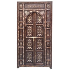 Amazing Chefchaouen Wooden Door All Inlaid, LM24 / 1