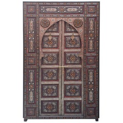 Amazing Chefchaouen Wooden Door All Inlaid, LM24 / 2