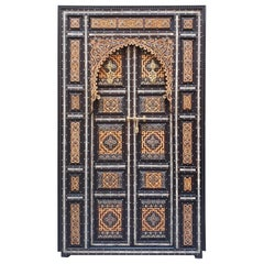 Amazing Chefchaouen Wooden Door All Inlaid, LM24 / 3