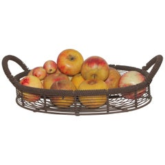 Amazing Collection of Alabaster Apples & Wire Basket, 15Pcs.