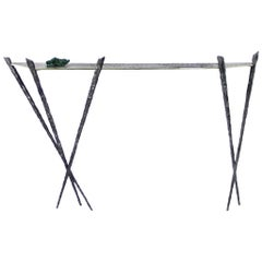 Console Table in Bronze and Forged Steel