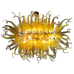Amazing Dale Chihuly Style Murano Glass Chandelier, Late 20th Century