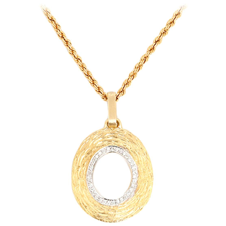 Amazing Diamond Gold Pendant Necklace