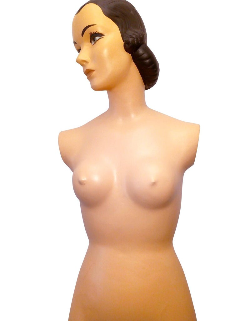 Amazing Female Plaster and Mesh Mannequin from the 1950s In Good Condition For Sale In Mexico, DF