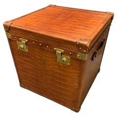 Amazing French Hat Trunk or Coffee Table, Fully Restored