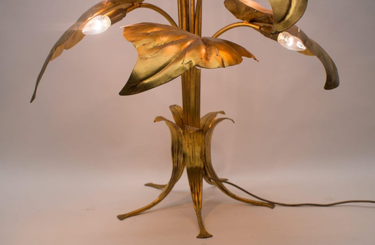 Amazing Gilded Floral Floor Lamp by Hans Kögl, Germany, 1960s For Sale 10