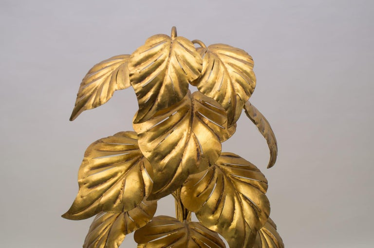 Amazing Gilded Floral Floor Lamp by Hans Kögl, Germany, 1960s For Sale 11