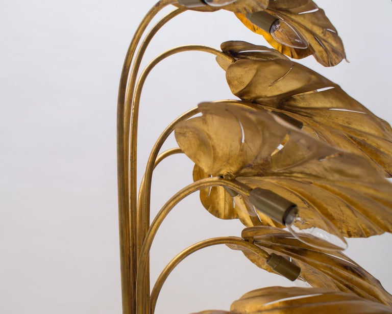 Amazing Gilded Floral Floor Lamp by Hans Kögl, Germany, 1960s For Sale 12