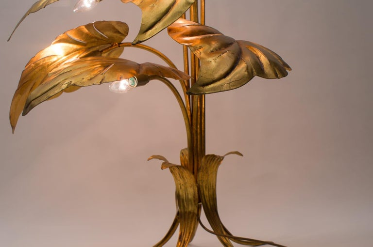 Amazing Gilded Floral Floor Lamp by Hans Kögl, Germany, 1960s For Sale 13