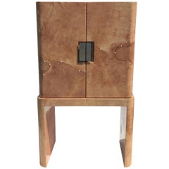 Amazing Goatskin Cabinet in the Style of Karl Springer