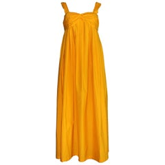 Amazing Hermes Paris Saffron Signature Orange Maxi Summer Dress