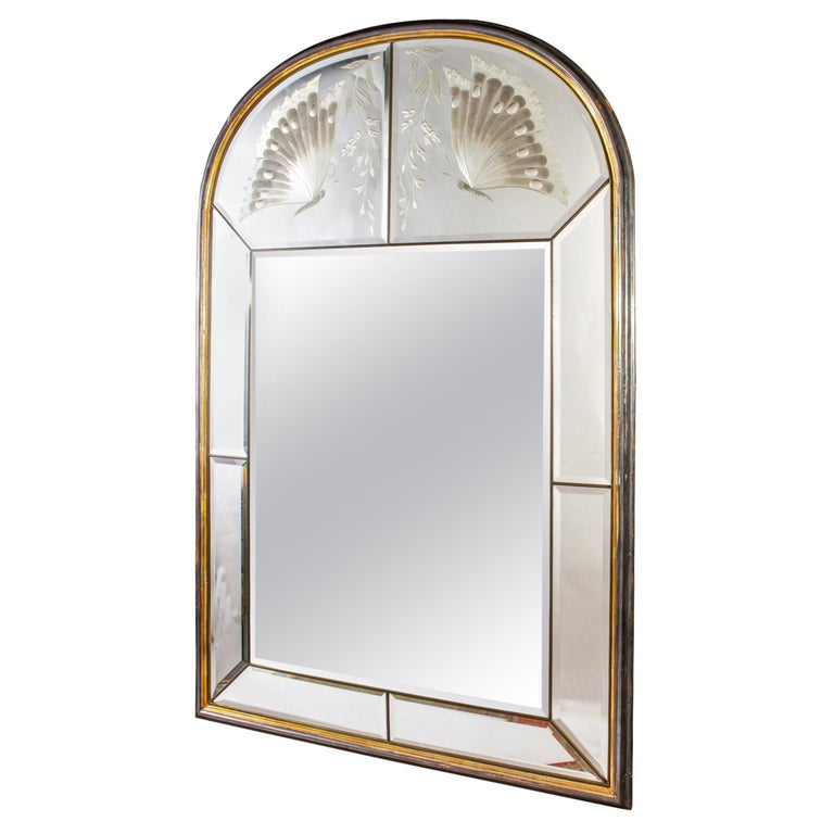 Amazing Italian Art Deco Mirror, 1940' For Sale 6
