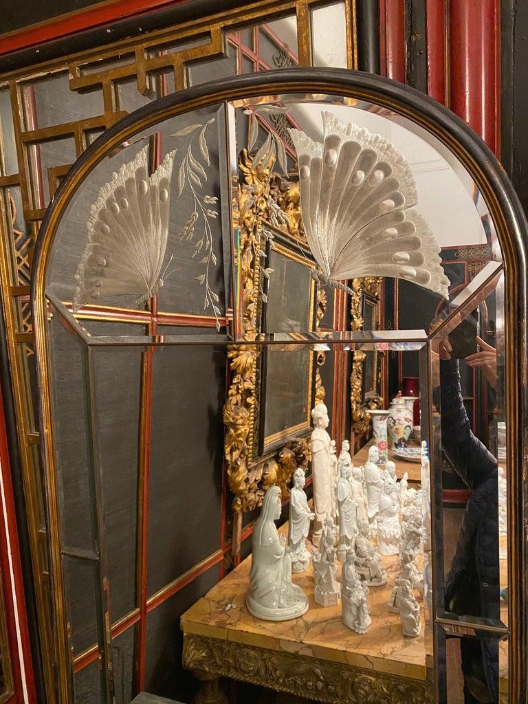 Amazing Italian Art Deco Mirror, 1940' For Sale 8