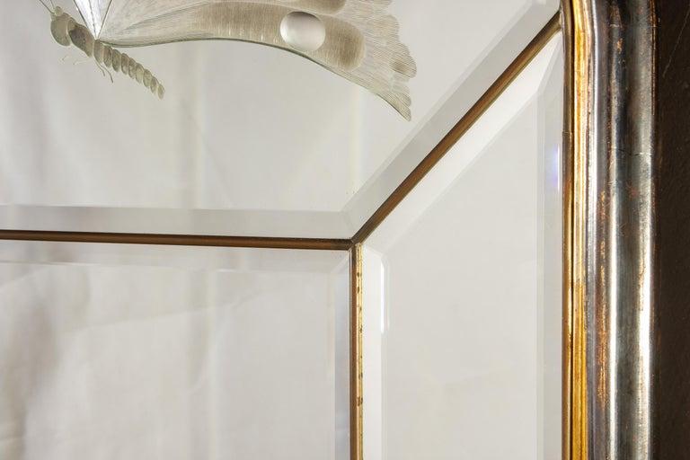 20th Century Amazing Italian Art Deco Mirror, 1940' For Sale