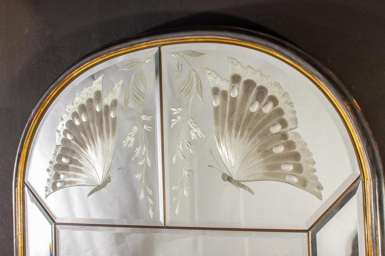 Amazing Italian Art Deco Mirror, 1940' For Sale 3