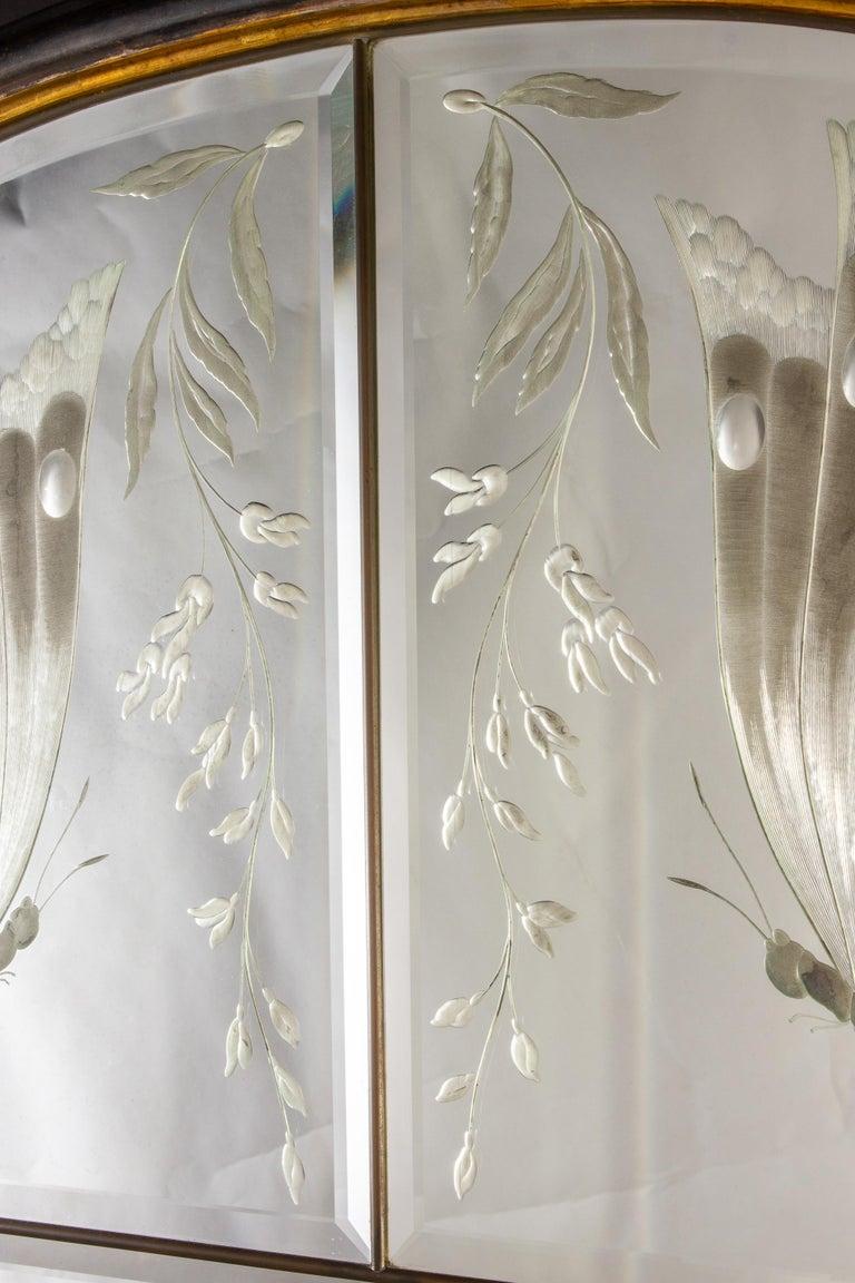 Amazing Italian Art Deco Mirror, 1940' For Sale 4