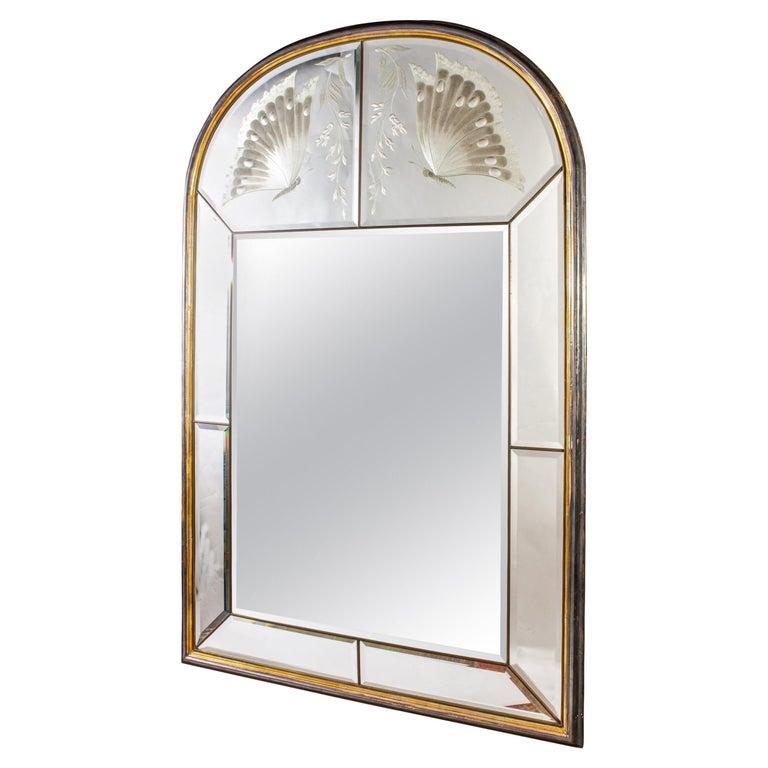 Amazing Italian Art Deco Mirror, 1940' For Sale