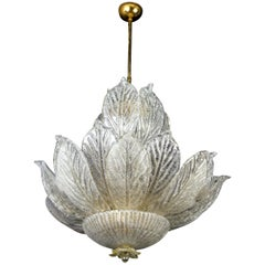 Amazing Italian Murano Glass Leave Chandelier