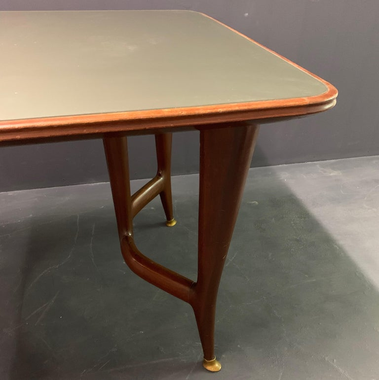 Mid-Century Modern Amazing Italian Desk or Dining Table by Guglielmo Ulrich For Sale