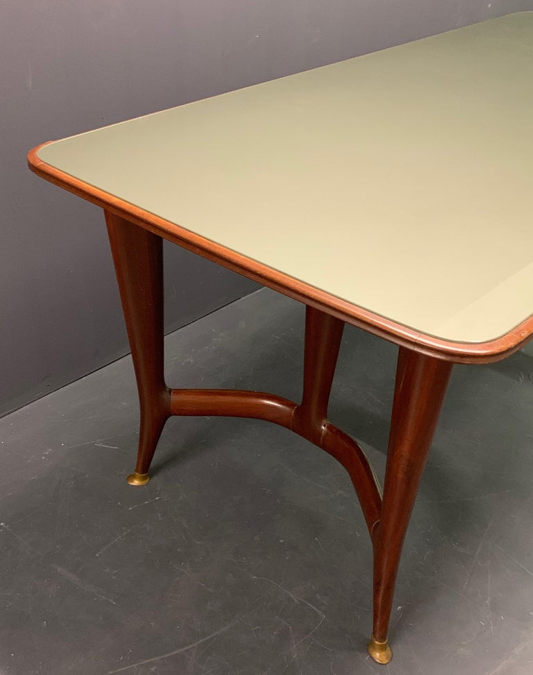 Amazing Italian Desk or Dining Table by Guglielmo Ulrich In Good Condition For Sale In Munich, DE