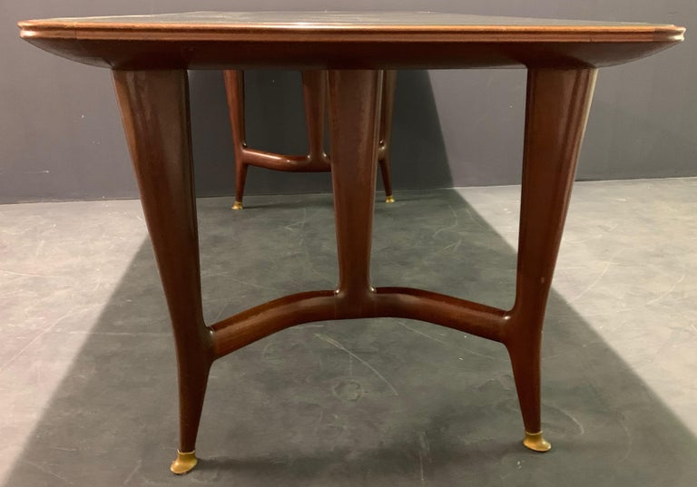 Amazing Italian Desk or Dining Table by Guglielmo Ulrich For Sale 3
