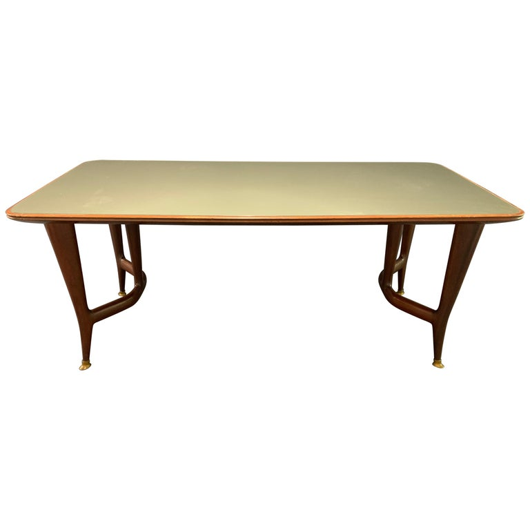 Amazing Italian Desk or Dining Table by Guglielmo Ulrich For Sale