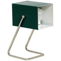 Amazing Kaiser Mid-Century Modern Metal Bedside Lamp with Metal Base