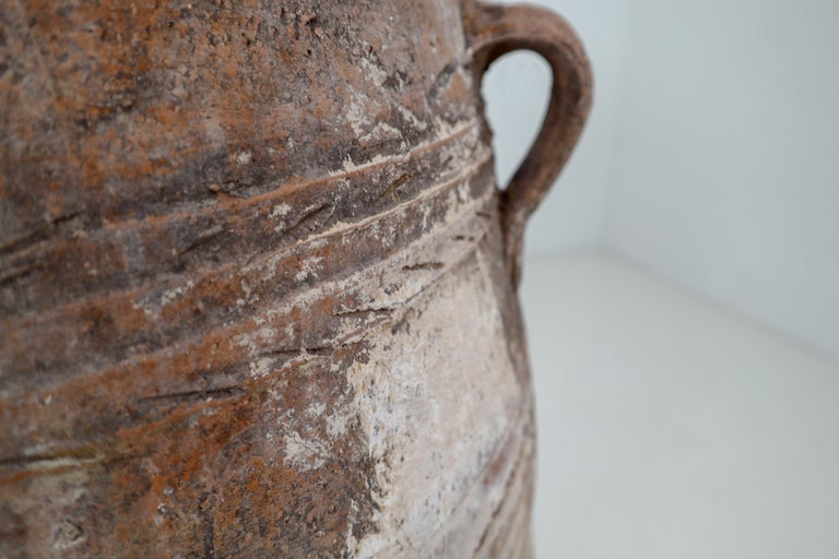 Amazing Large Greek Patinated Terracotta Jar from the Early 20th Century For Sale 7