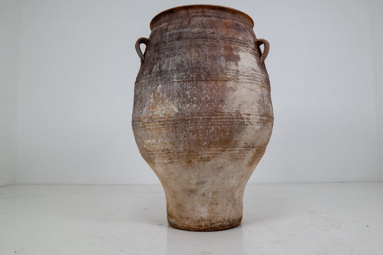 Amazing Large Greek Patinated Terracotta Jar from the Early 20th Century For Sale 4